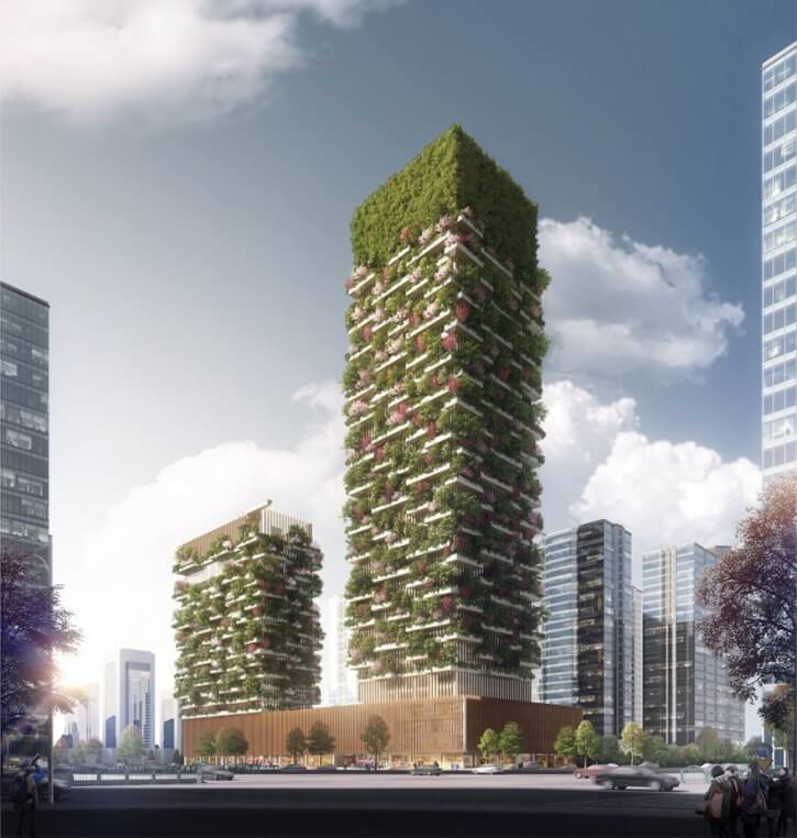 Asia's First Vertical Forest In China With 3000 Plants That Will Produce 60 Kg Oxygen Every Day