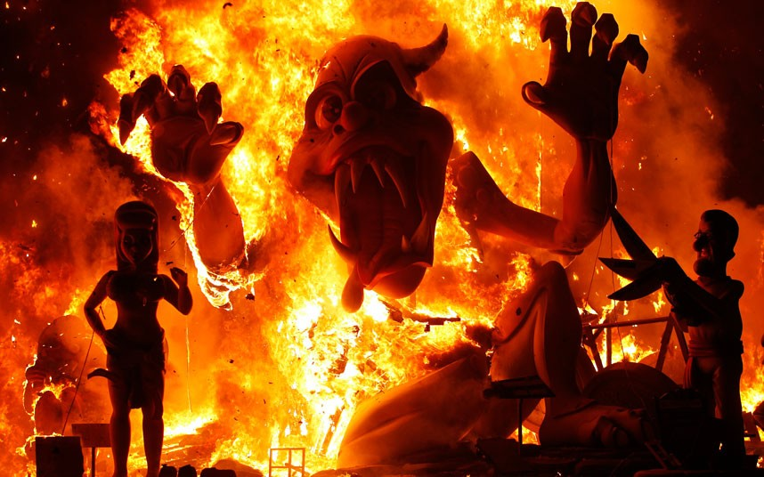 Spain Celebrated The Ancient Las Fallas Fiesta In Valencia
