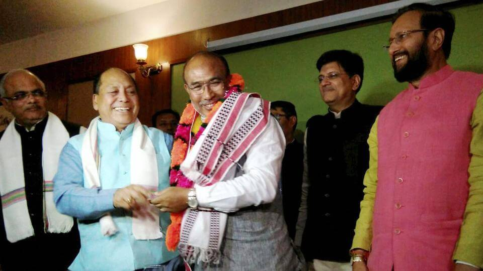 BJP Scripts History In Manipur As Biren Singh Takes Oath As The CM