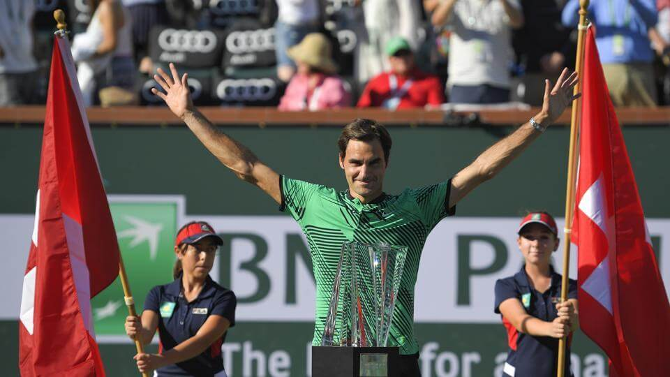 Roger Federer Defeats Stan Wawrinka And Claimed Fifth Indian Wells Masters Title