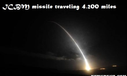 US Air Force test fires ICBM missile traveling 4,200 miles to South Pacific