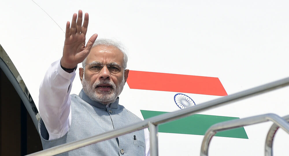 Modi Starts His Tour On Four Nations