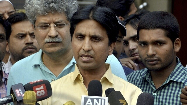 "MR.Vishwas was attacked by Mr.Khan for beeing an agent for ""RSS-BJP"" and planning a revolution in the party"