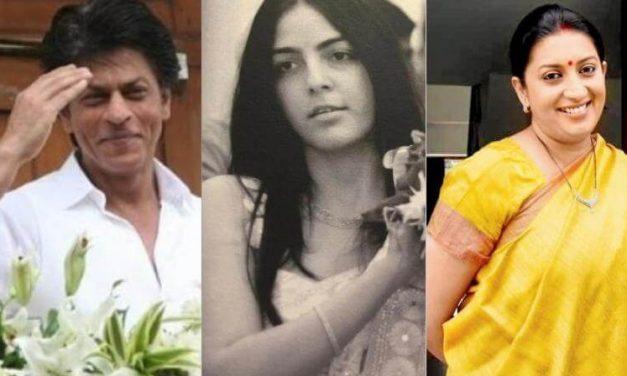 Shah Rukh Khan reposted the pic posted by Smriti Irani