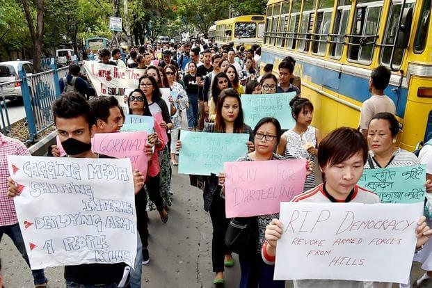 Gorkhaland Protests in Darjeeling