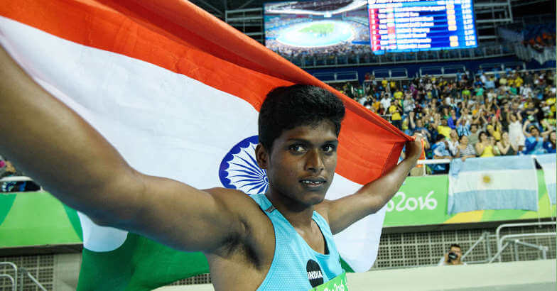 Mariyappan Thangavelu, an Indian Paralympic high jumper who born in TamilNadu