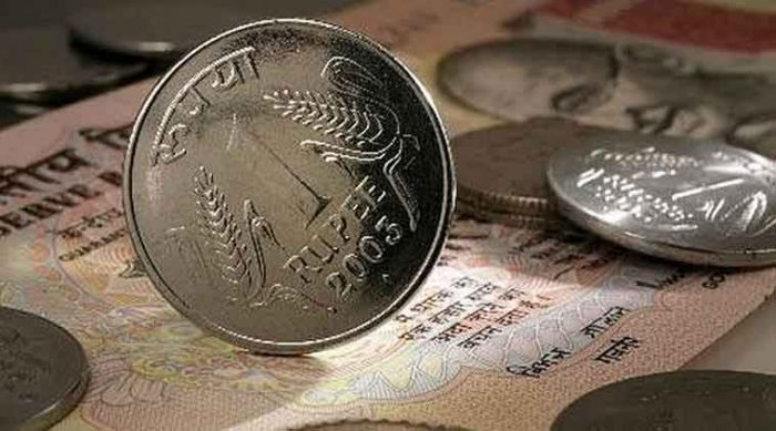 Rupee came down by a further three paise to 64.55 against the dollar