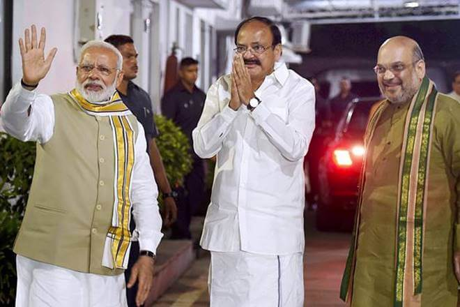 BJP's Parliamentary Board Metting declared that Union Minister M Venkaiah Naidu would be the vice-presidential candidate of the ruling NDA.
