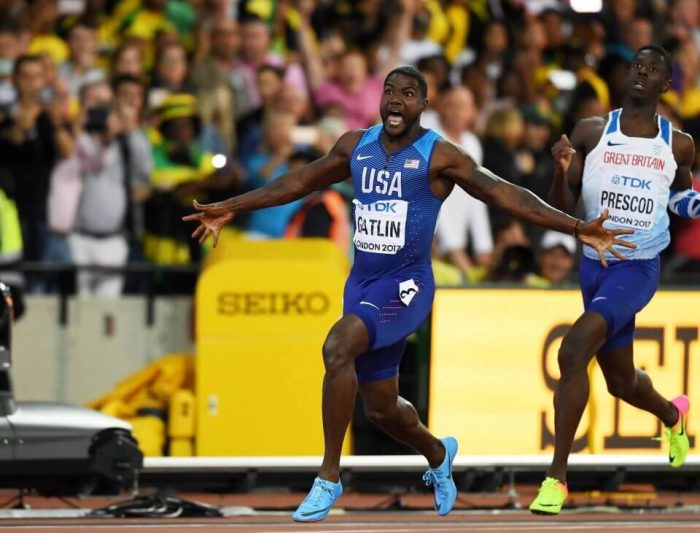 Fellow American Justin Gatlin secured a surprise victory in a season's best 9.92 seconds in the 100m final