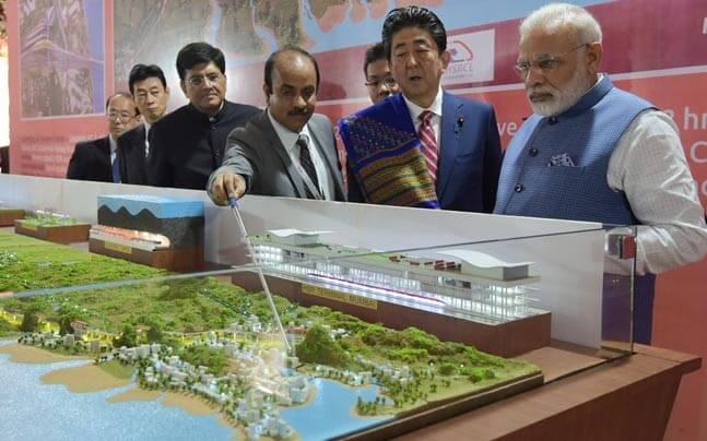 Prime Minister Narendra Modi and his Japanese counterpart Shinzo Abe launched work on India's first bullet train project