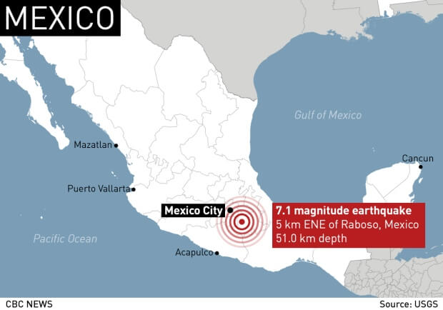 US Geological Survey reports that the epicentre was Atencingo in Puebla state town of Raboso