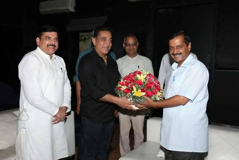 Arvind Kejriwal Meets Kamal