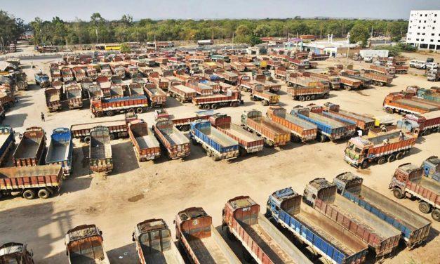 """90 Lakh Trucker's India-Wide """"Chakka Jam"""" against GST"""
