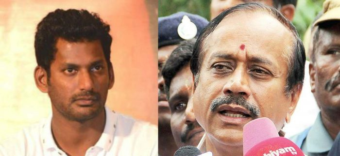 Actor Vishal's Office Raided by GST team after Accusing H Raja of watching Mersal online