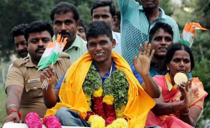Mariyappan Thangavelu Celebration after Rio Paralympics 2016