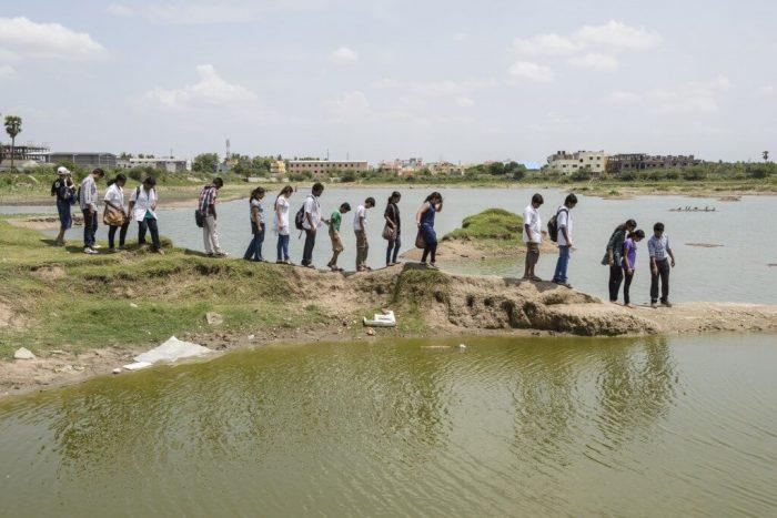 Arun Krishnamurthy With EFI Volunteers