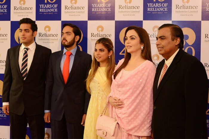 India's Ambani family has topped the forbes list