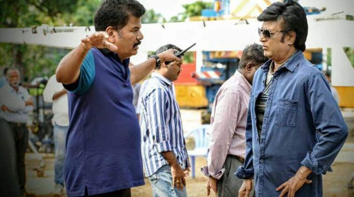 Shankar (Director) with Rajinikanth