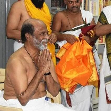 Rajinikanth visits Mantralayam temple to get Blessings for his Upcoming film 2.0