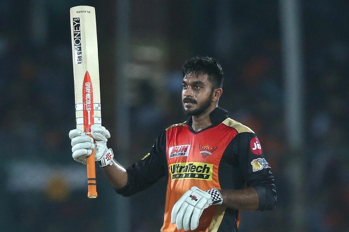 Vijay Shankar improves his bowling while he played for Sunrisers Hyderabad in the Indian Premier League (IPL).