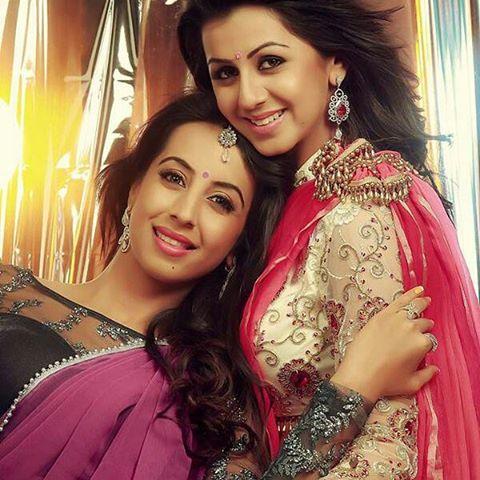 Nikki Galrani with Sanjjanaa archana galrani