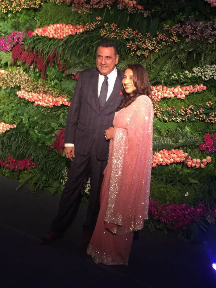 Boman Irani was one of the first ones to arrive at the Virushka Mumbai reception
