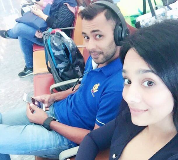 Mayanti Langer with her Husband Stuart Binny