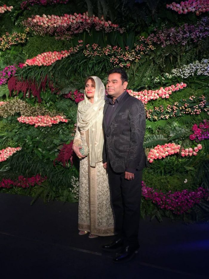 A R Rahman with his wife