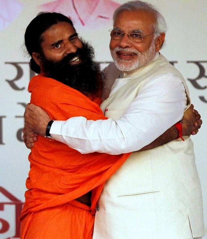 Baba Ramdev with Narendra Modi