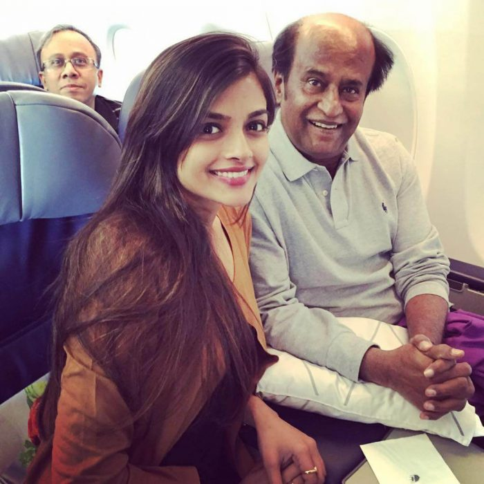 Ashna Zaveri with Super Star Rajinikanth