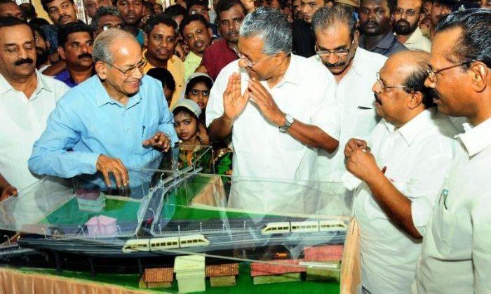 Pinarayi Vijayan With E. Sreedharan