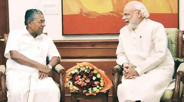 Pinarayi Vijayan With Narendra Modi