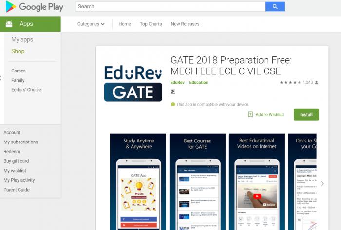 GATE Exam APP