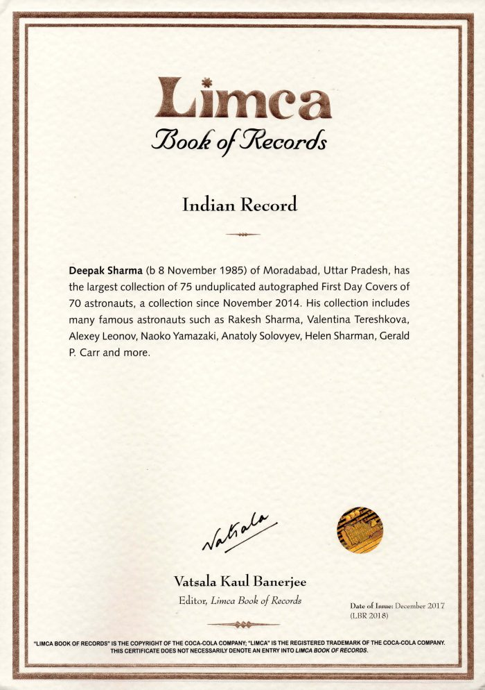 Deepak in Limca Book of Records