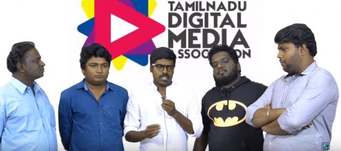 Tamil Nadu Digital Media Association Protest Over Cauvery, Sterlite Issues