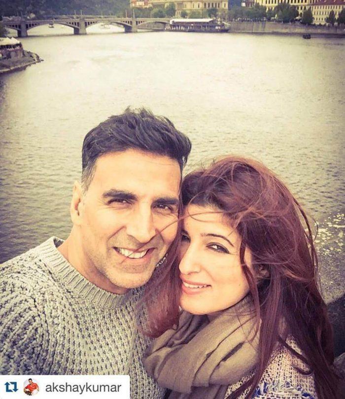 Akshay kumar Wife Twinkle Khanna Images