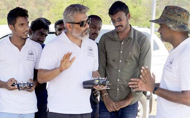 Actor Ajith Kumar as Helicopter Test Pilot in MIT's Drone Mission