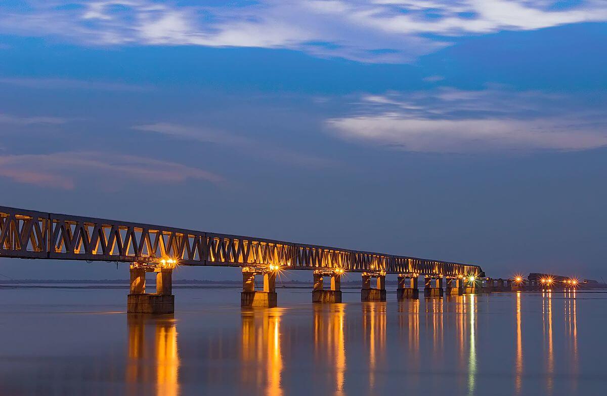 India's Longest Road-Rail Bridge