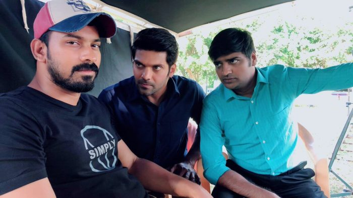 Santhosh P Jayakumar With Actor Arya and Sathish
