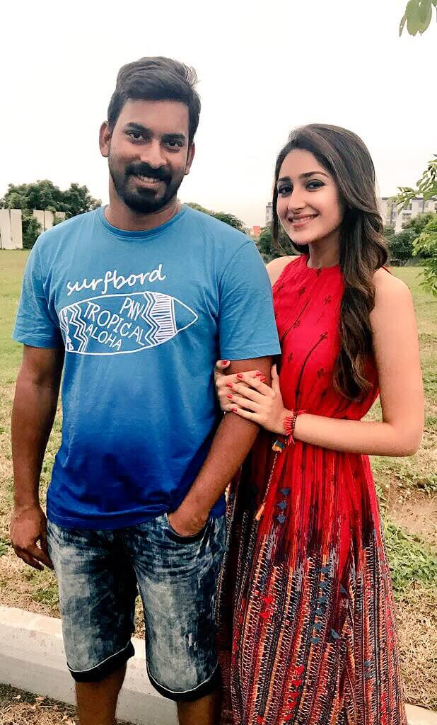 Santhosh P Jayakumar With Actress Sayesha Saigal
