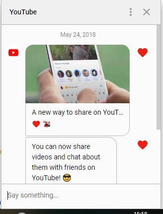 YouTube Messaging Feature Hits Web