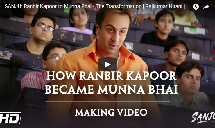 Ranbir Kapoor's Transformation into Munnabhai