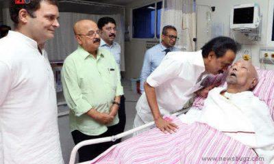 Kalaignar Karunanidhi dead images