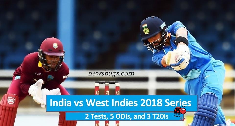India vs West Indies 2018 Series