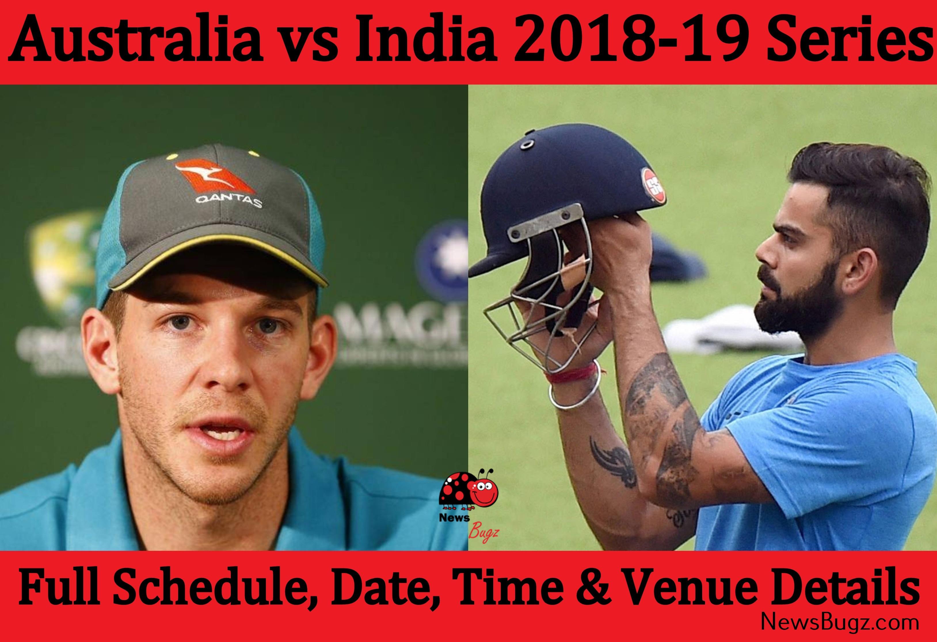 Australia vs India 2018-19 Series