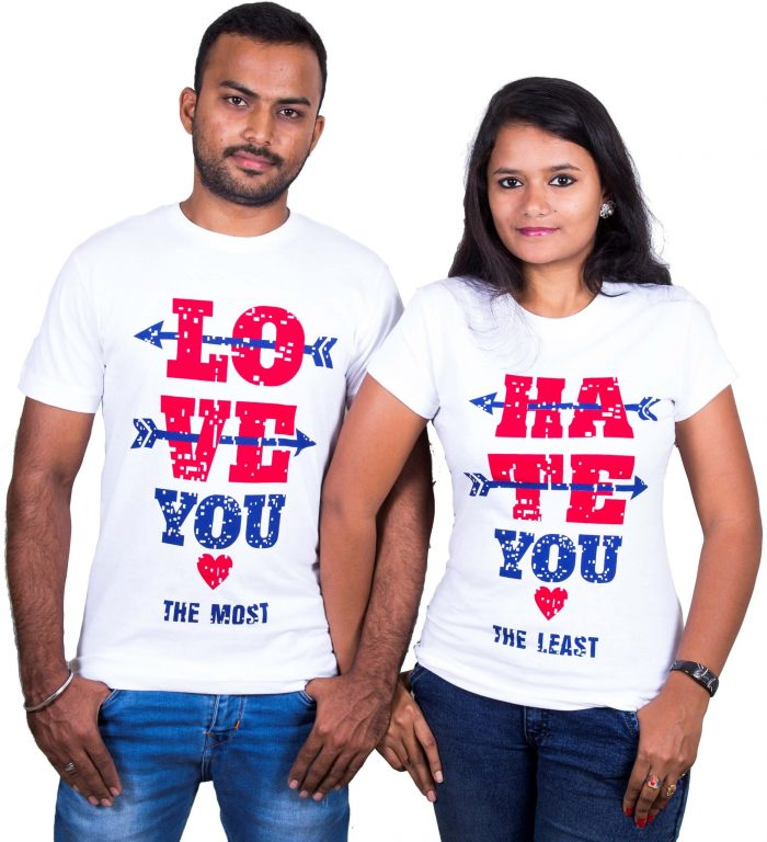 Love You Hate You Couple T-Shirt