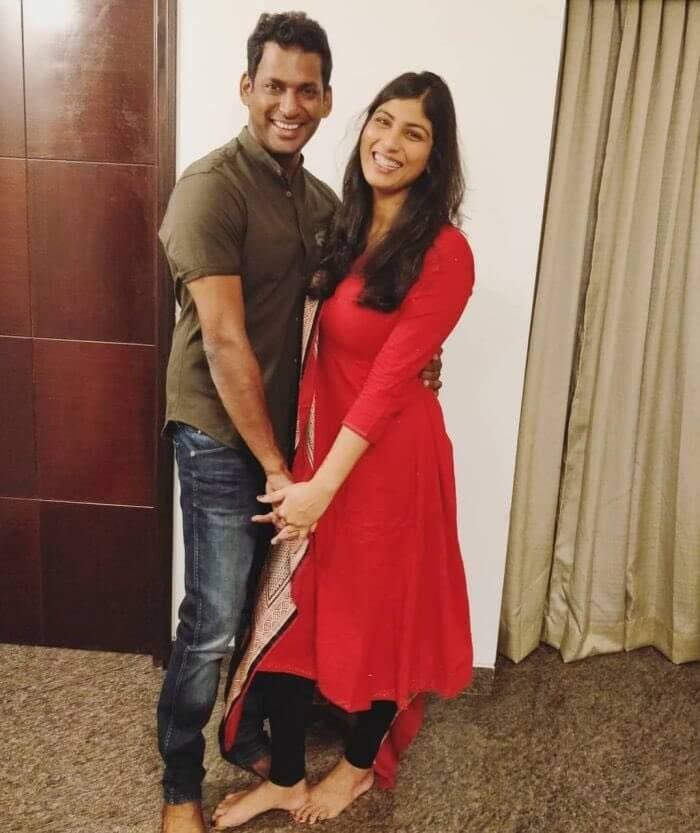 Vishal and Anisha Alla Reddy