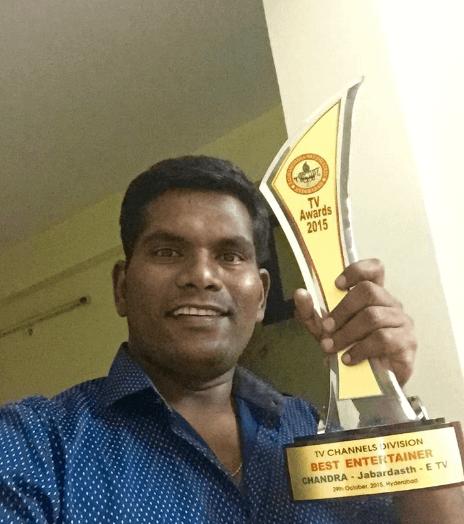 Chammak Chandra with an Award