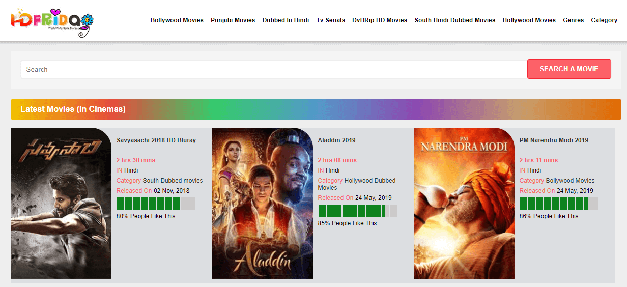 Hdfriday Website 2019: New Bollywood, Hollywood, Punjabi