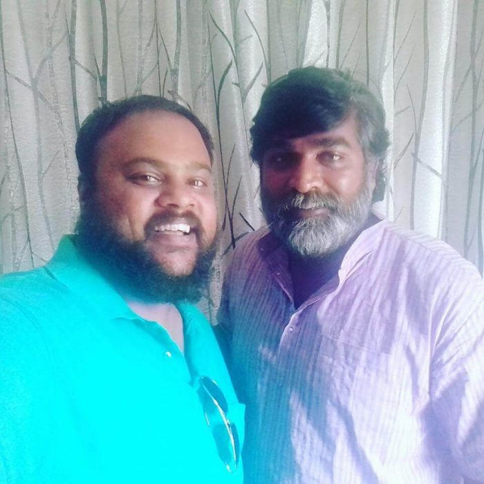 Rajesh Giriprasad with Vijay Sethupathi